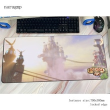 bioshock mouse pad gamer Fashion mousepad 70x30cm rubber desk mat HD pattern gaming accessories pc keyboard mats oversized