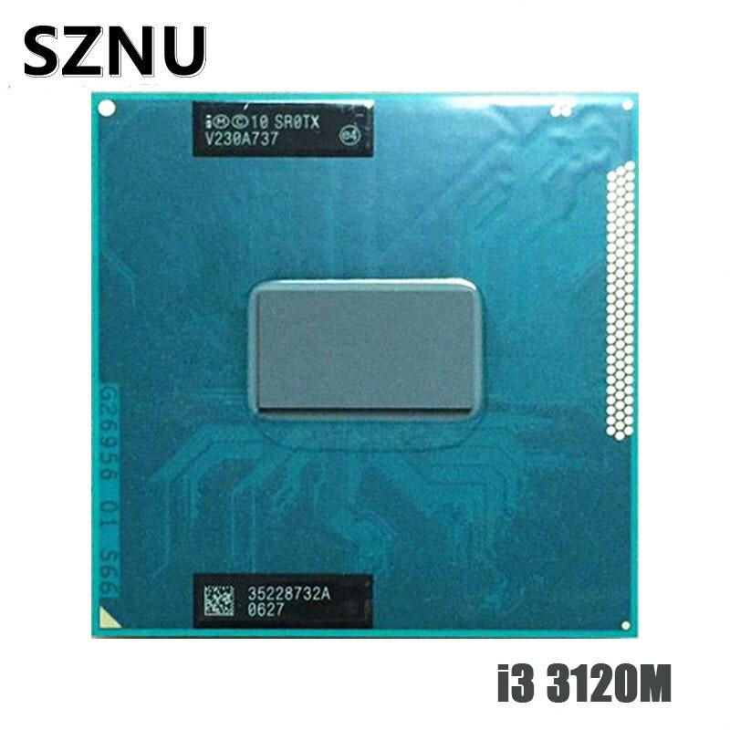 Computador intel core i3 الأصلي ، وحدة المعالجة المركزية 3120m النواة محمول i3-3120M 3m 2.50ghz processador sr0tx كوم suporte الفقرة hm75 hm77
