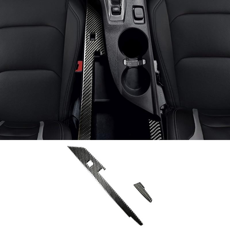 pcmos Real Carbon Fiber Inner Gear Shift Frame Cover Automotive Interior Sticker Trim For Chevrolet Camaro 2017-2019 Accessories
