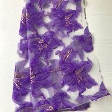 Jacquard Lace Fabric 2021 New Flower Lace Purple French Mesh Lace Material For Women Party Dress