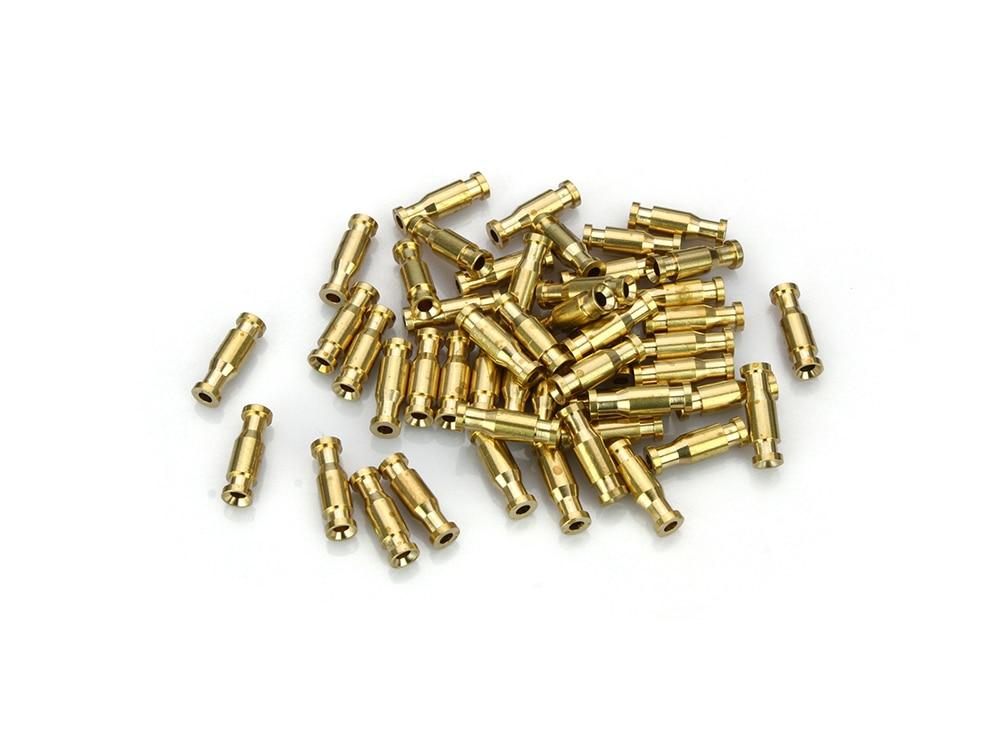 Bottle Tubes Brass Metal Tubes Fly Tying Materials +Liner Tube+Junction Tubeing-50pcs per pack(Gold) )