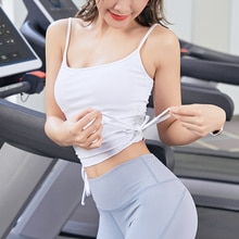 Sports vest women's new no steel ring bra fitness clothes beauty back breast small bra bra outer wea