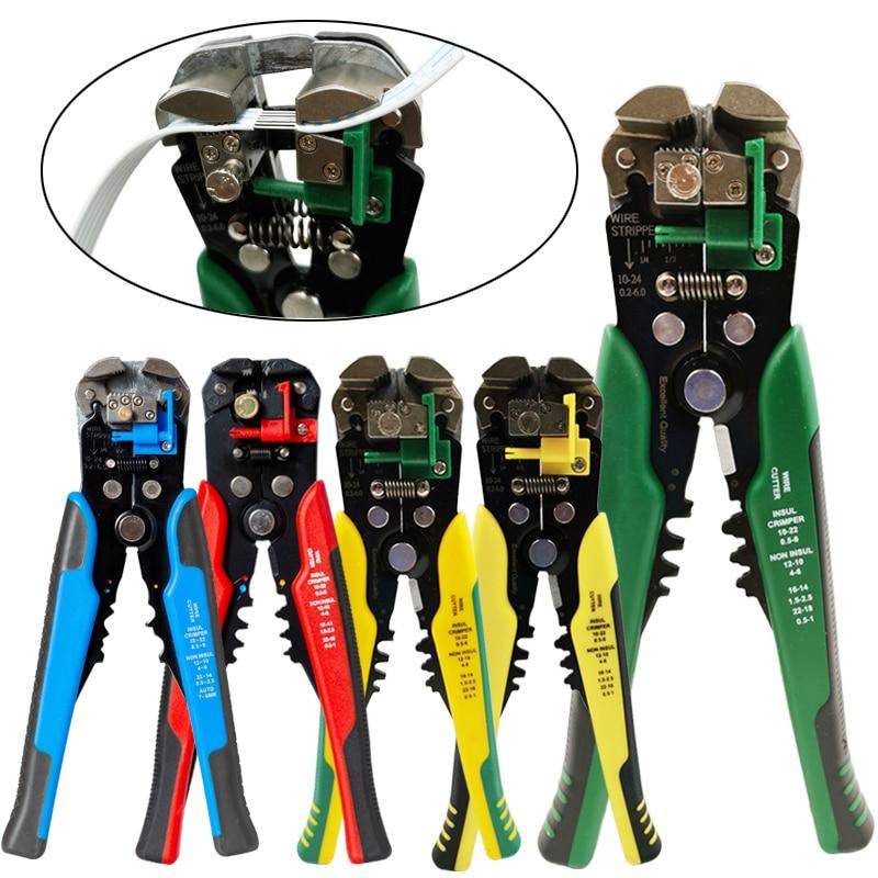 クリンパーケーブルカッター自動ワイヤーストリッパー多機能ストリッピングツール圧着ペンチ端子0.2-6.0mm2ツール