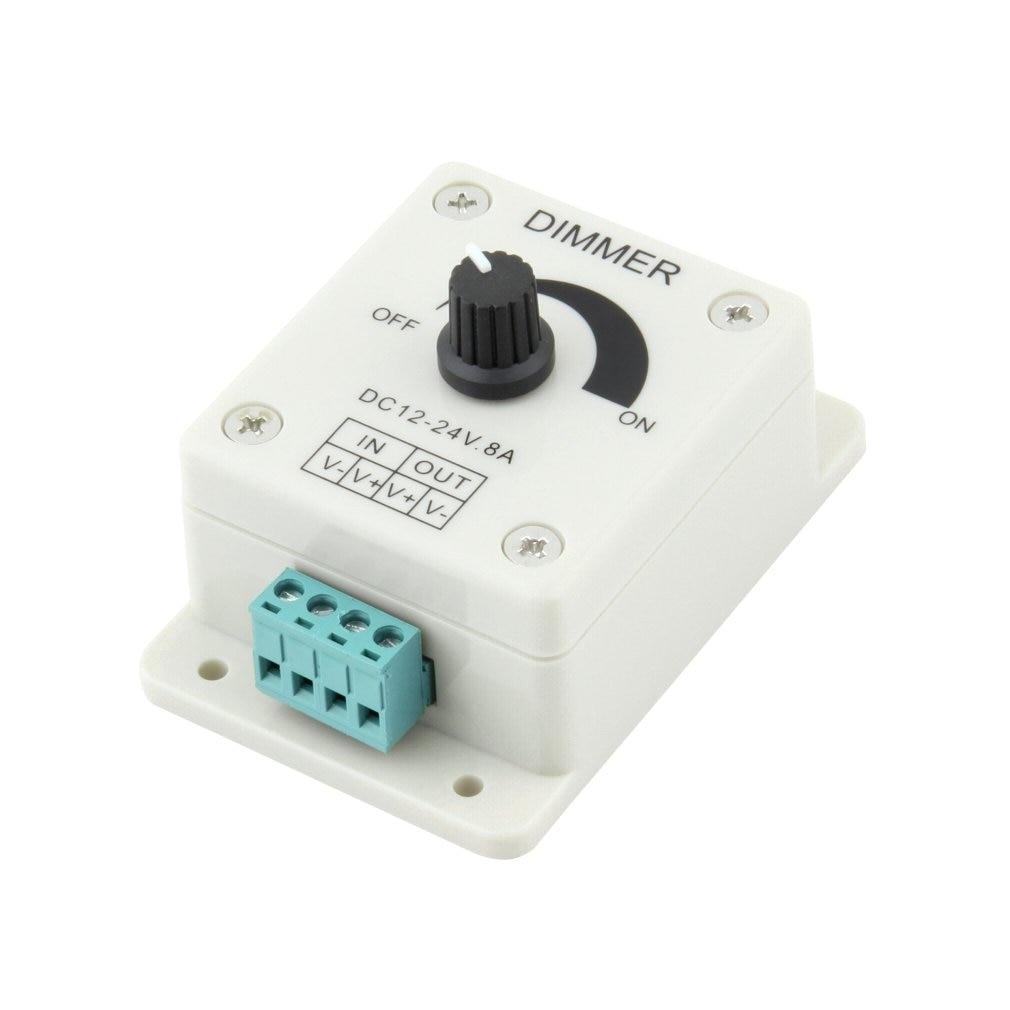 DC 12V 8A LED Light Protect Strip Dimmer Adjustable Brightness Controller For LED Strip Light Lamp Accessories