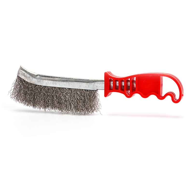 Cepillo de alambre de acero inoxidable para limpiar la eliminación de óxido de Metal costura de soldadura preparación eliminar cepillo para óxido Mini limpieza y pulido de latón