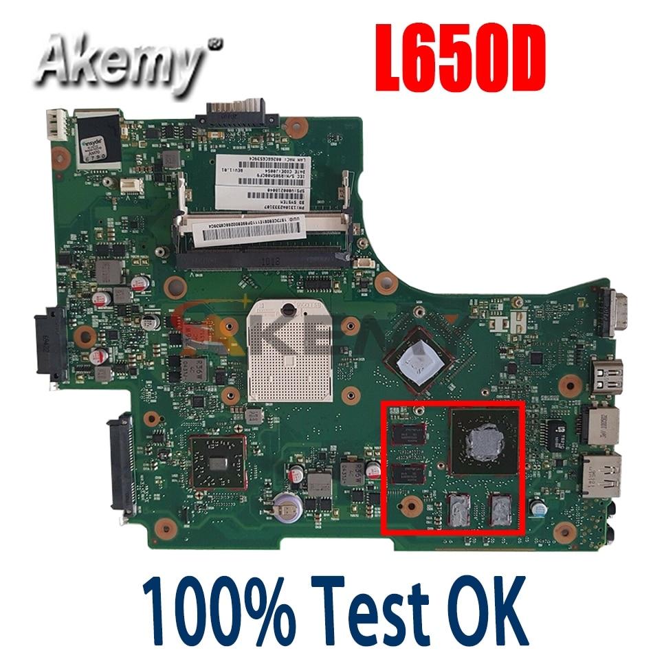 AKemy اللوحة الأم للكمبيوتر المحمول توشيبا L650 L650D اللوحة الرئيسية نظام اللوحة V000218040