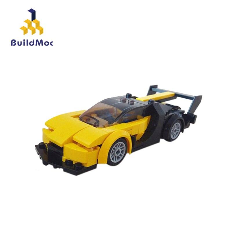Coche técnico BuildMoc, Mini Roadster, juguete para niños, bloques de construcción, modelo de vehículo deportivo de carreras en ciudad, juguete educativo para niños