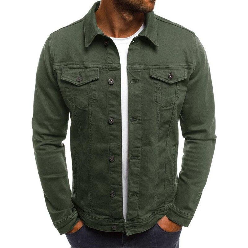 Новинка весна и осень повседневные мужские куртки мужские джинсовые куртки приталенные Рабочие куртки модные трендовые Брендовые куртки
