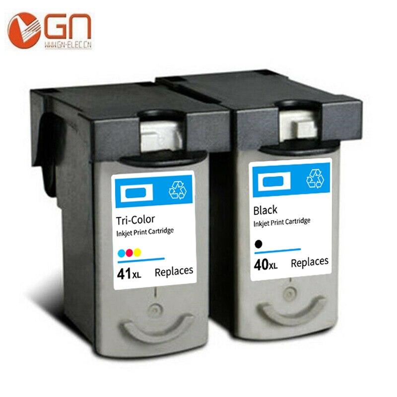 GN PG40 CL41 cartucho de tinta Compatible para Canon PG40 CL41 para Pixma iP1600/IP1700/IP1800 MP140 MP150 MP160 MP450 impresora
