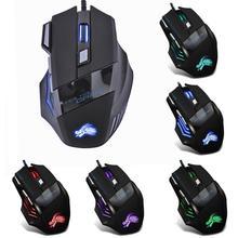 Dropship 5500DPI LED Optische Gamer Maus USB Wired Gaming Mouse 7 Tasten Gamer Computer Mäuse Für Laptop Mäuse PC
