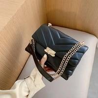 fashion quilting square women shoulder bags designer chain crossbody bag luxury pu leather crossbody bag female small falp purse
