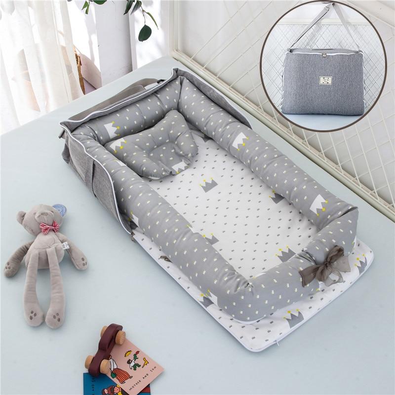 pigeon newborn pure travel set Removable Newborn Bed Baby Cot Nest Bed Bag Set Bebe Protect Cradle Cushion Bumper Portable Travel Crib for Newborn babynest