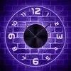 ערבית ספרות מואר ססגוניות קיר שעון בית פנים דקור קיר תלוי שעון זוהר בחושך אווירת לילה אור