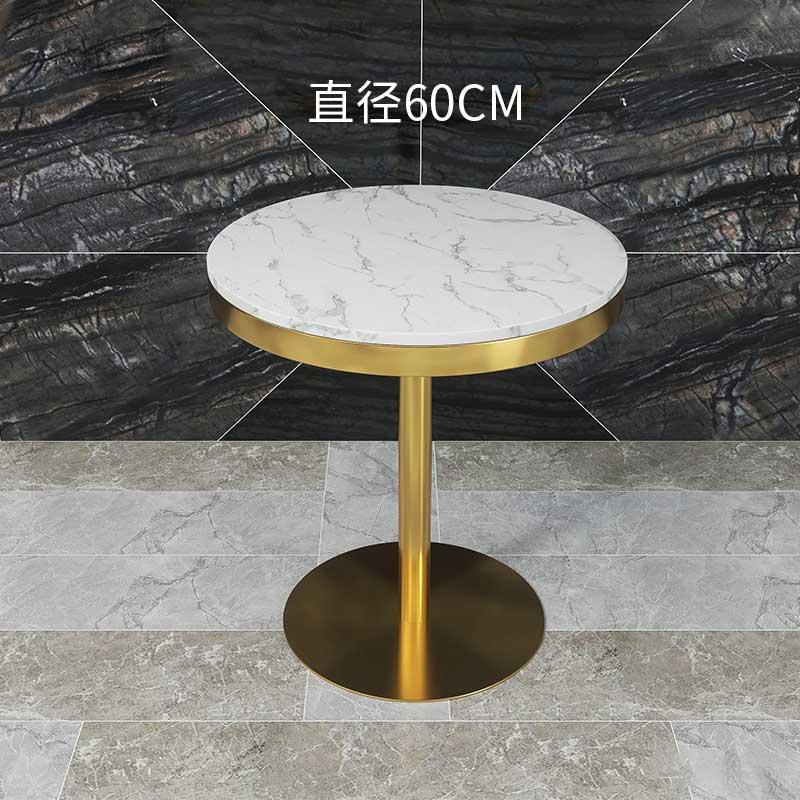 Современные минималистичные круглые кофейные столы в нордическом стиле, домашние повседневные Железные Столы с мраморным верхом из Пномпе...