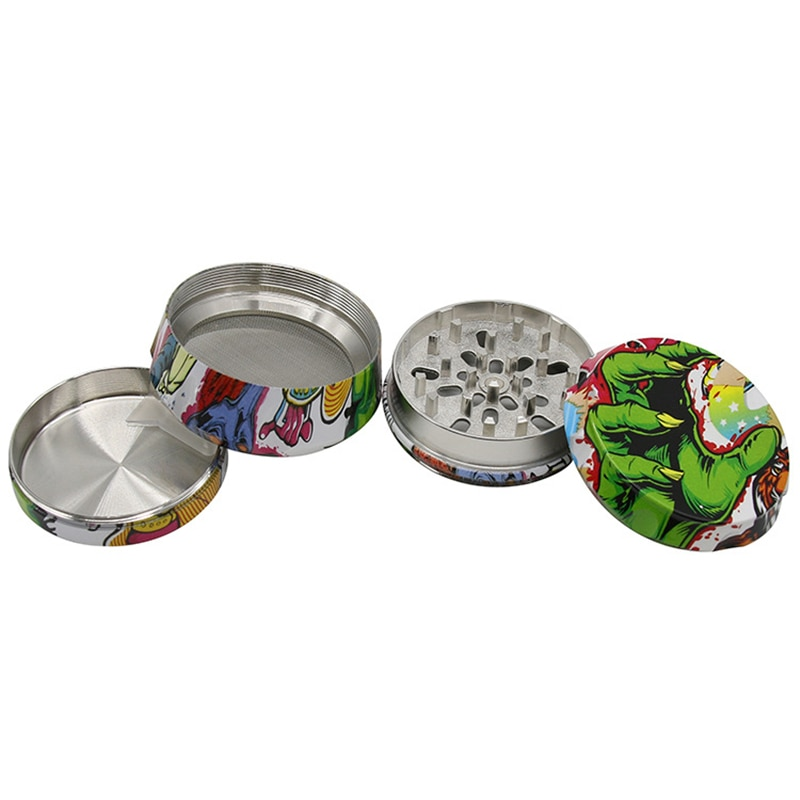 The New 4-layer Zinc alloy 63mm Herb Grinder Smoking Tobaccos Crusher Process Grinders Herbal Smoking Accessories enlarge