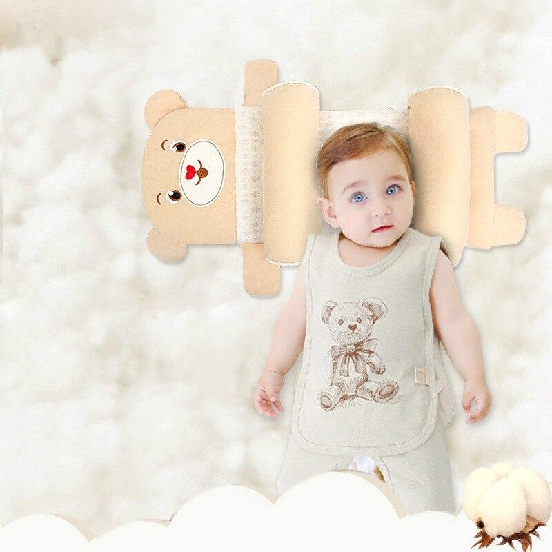 Almohada de algodón con funciones para recién nacidos, almohada de algodón con diseño completo para niños