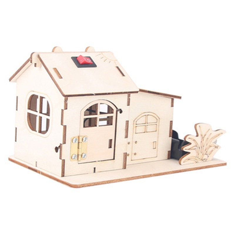 los-ninos-de-madera-de-montaje-de-juguetes-luz-de-la-casa-3d-modelos-edificio-de-ciencia-kits-de-experimentos-madre-educativos
