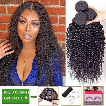 Afro Kinky Curly Hair 3 Bundles Deals Human Hair Bundles Bundles Peruvian Brazilian Hair Weave Bundles non-remy Hair Extension