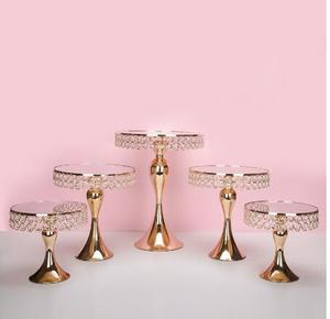 5pcs gold cake stand and 5pcs silver