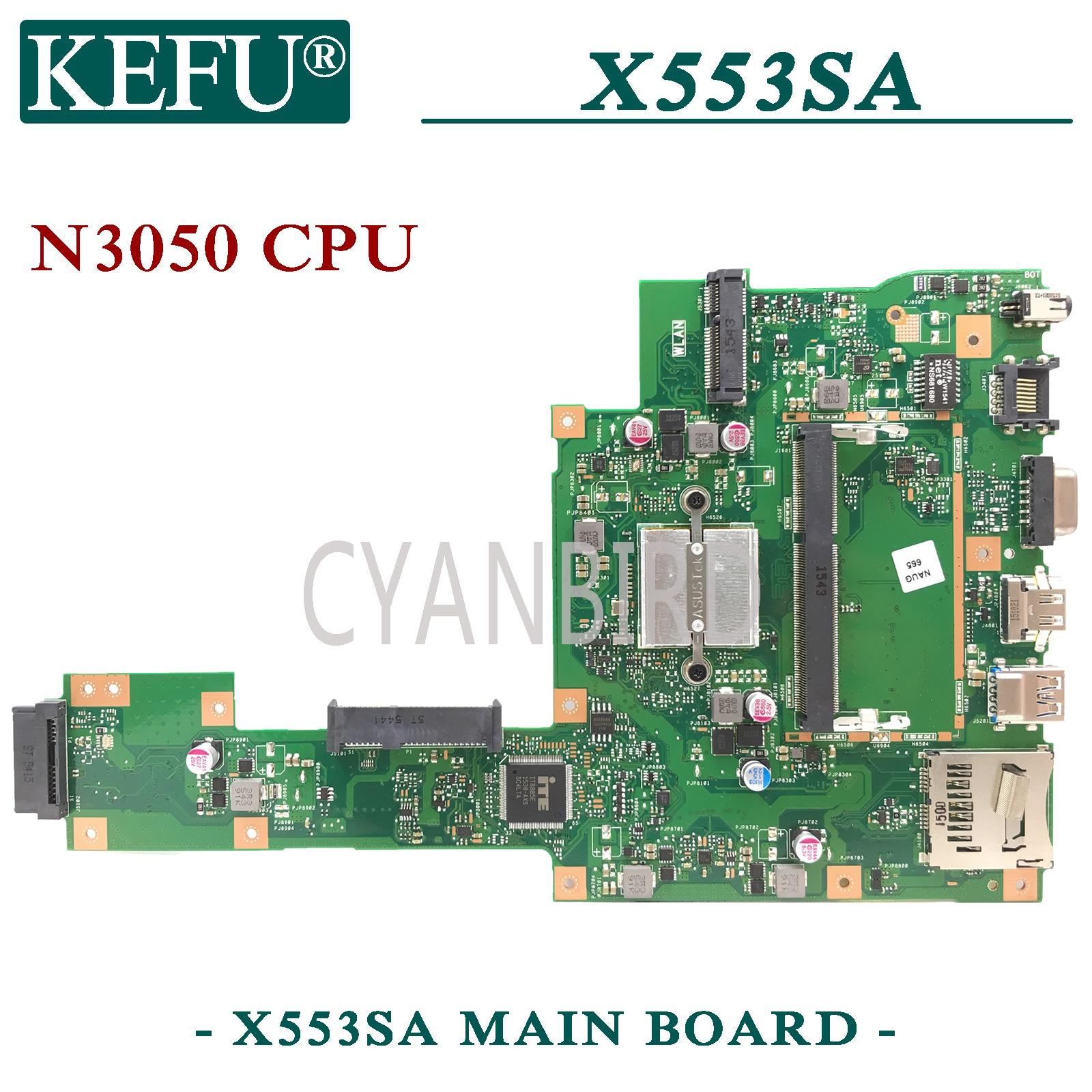 KEFU X553SA اللوحة الرئيسية الأصلية لشركة آسوس X553SA X553S مع اللوحة الأم للكمبيوتر المحمول N3050