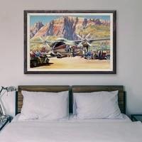 36 affiches en soie personnalisees T016  retro classique  operations de vol davion de guerre  Art mural  cadeau de noel