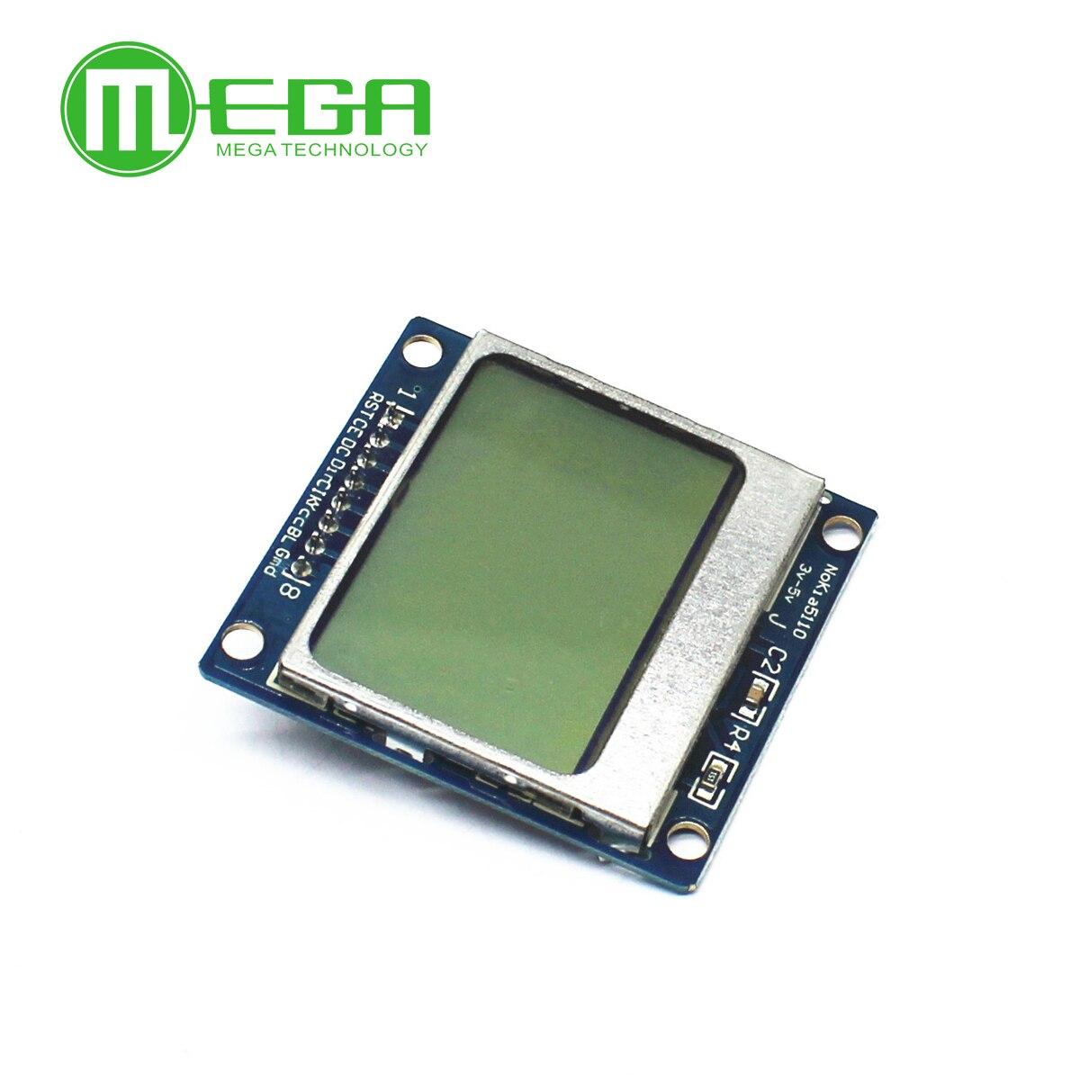 10 قطعة الأبيض الخلفية 84*48 84x84 5110 LCD عرض وحدة