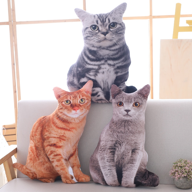 pusheenedplush toys donuts cat kawaii cookie icecream rainbow cake plush soft stuffed animals toys for children kids gift 1pc 50cm Simulation Plush Cat Pillows Soft Stuffed Animals Cushion Sofa Decor Cartoon Plush Toys for Children Kids Gift