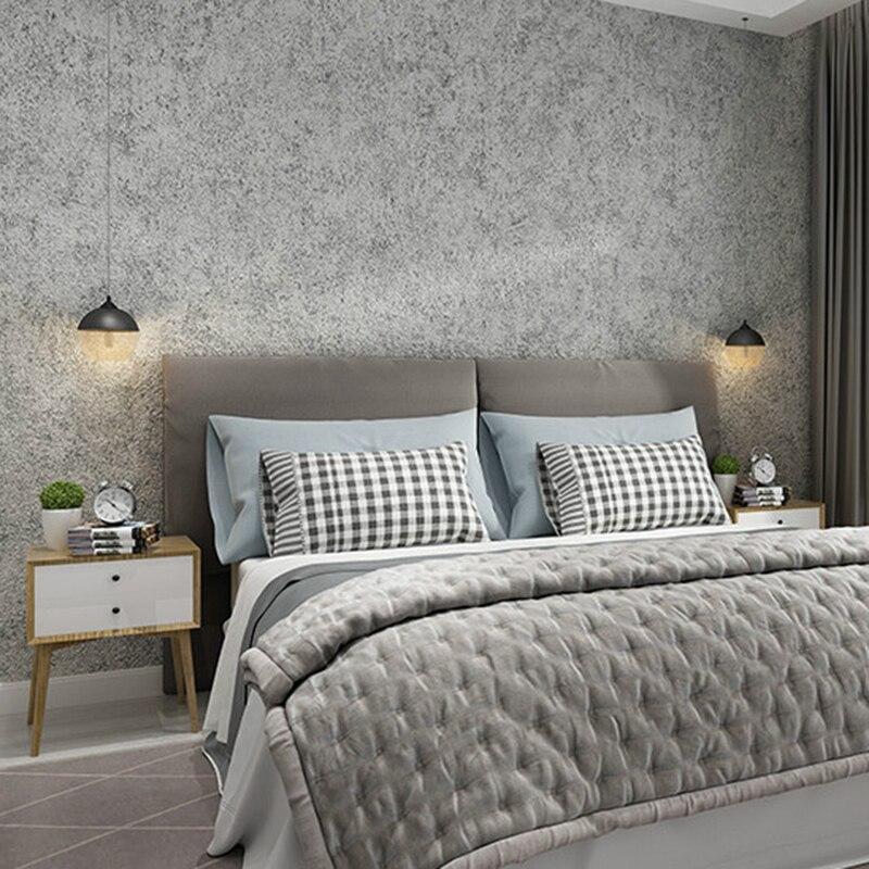 Papel tapiz de Color Vintage moderno con textura de hormigon blanco gris...