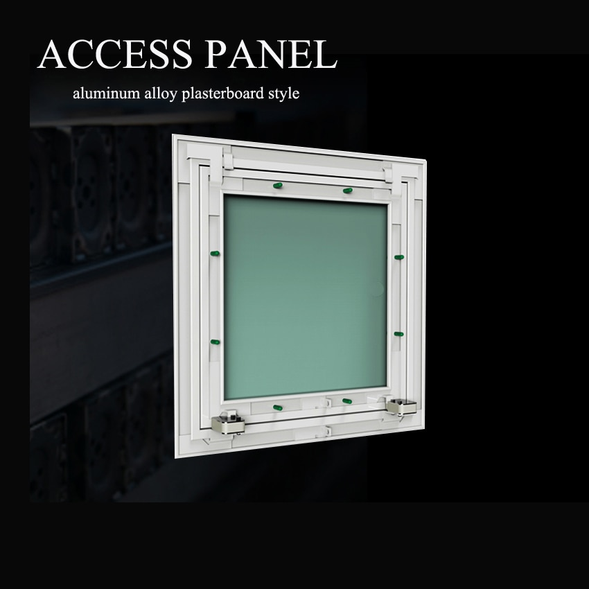 باب فحص مصنوع من ألواح الجبس المصنوعة من سبائك الألومنيوم ، 450 × 450 مللي متر ، للمرحاض أو للنزيل ، مع فتحة الفتح