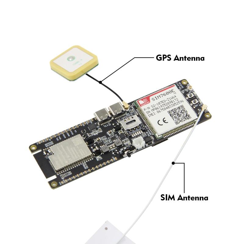 LILYGO® TTGO SIM7600E-H Module ESP32-WROVER-B Chip WiFi Bluetooth 18560 Battery Holder Solar Charge Development Board enlarge