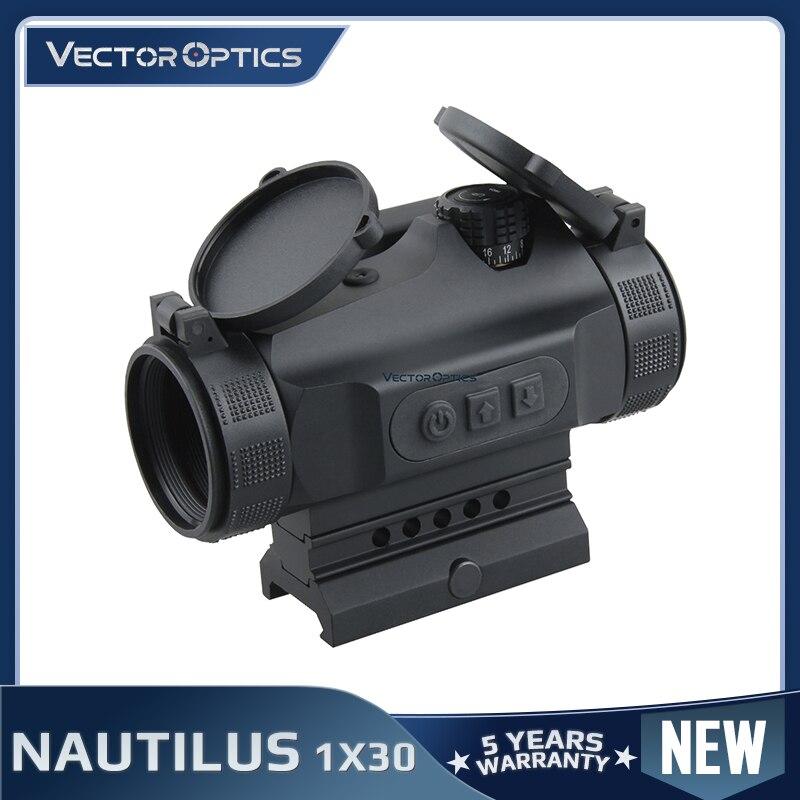 Vector Optics Hunting 1x30 Reflex Red Dot Sight Scope 3 MOA Auto Brightness Fit AK47 AR15 9mm Laru Picatinny Weaver Rail