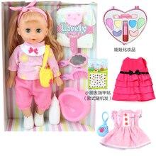 35 centimetri Bebe reborn bambola Può Lampeggiare Bere Acqua Latte Cambiare i vestiti Pipì speak talking pieno di vinile silicone Bambole Del Bambino Rinato bambole regalo