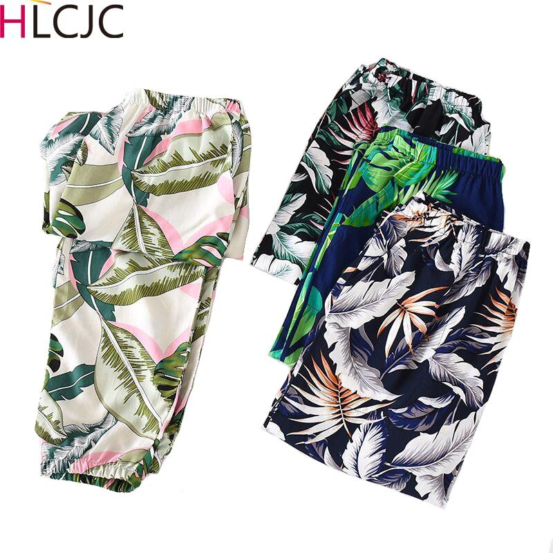 2020 New Spring Women Cotton Sleep Bottoms Female Loose Plus Size Nighty Trousers Sleepwear Pyjama Ladies Printing Pajama Pants