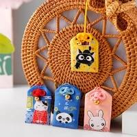 japanese embroidered bless bag keychain omamori pray love health safe study wealth pray bag car decor guard talisman key chains