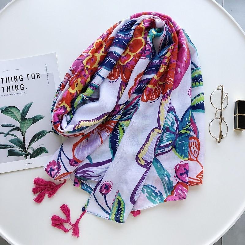 2020 nacional del cabo de las mujeres de verano Bohemia color de moda pañuelo nuevo bufanda de doble uso Toalla de playa bufanda de seda bufandas largas