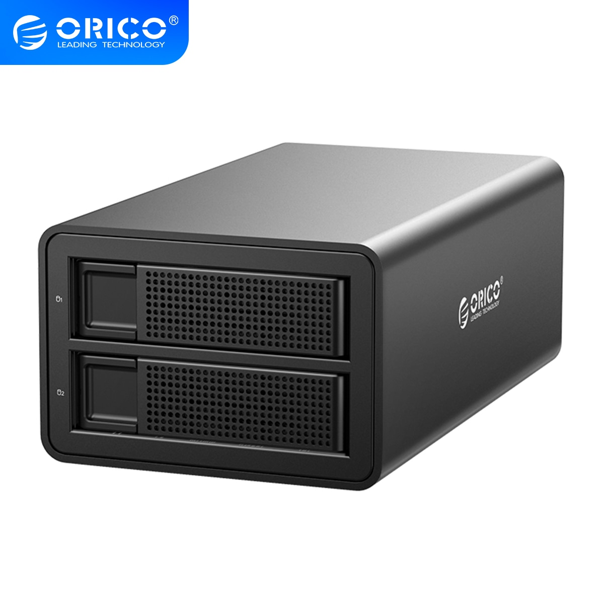 ORICO 35 Series 3.5 inch 2 Bay HDD Docking Station Support UASP 32TB With 48W Power Hard Drive Case For 2.5 3.5 Inch Hard Drive