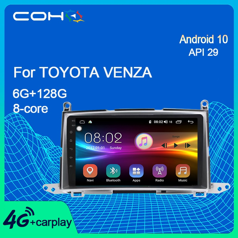 COHO For Toyota Venza Navigation Car Dvd Multimedia Player Radio Android 10.0 Octa Core 6+128G