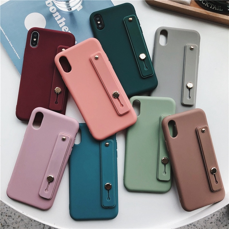 Wrist Strap Candy Color Phone Case For Huawei Nova 3i 3 5T 5 5i Pro Nova 6 4G 5G 7 8 SE 5i 7i 4 4E 2i Soft TPU Holder Back Cover