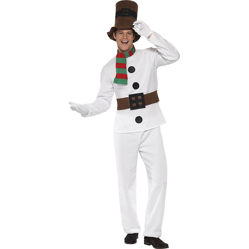 Рождественский костюм для взрослых пар, косплей, Рождественский костюм снеговика, костюм для выступления на сцене