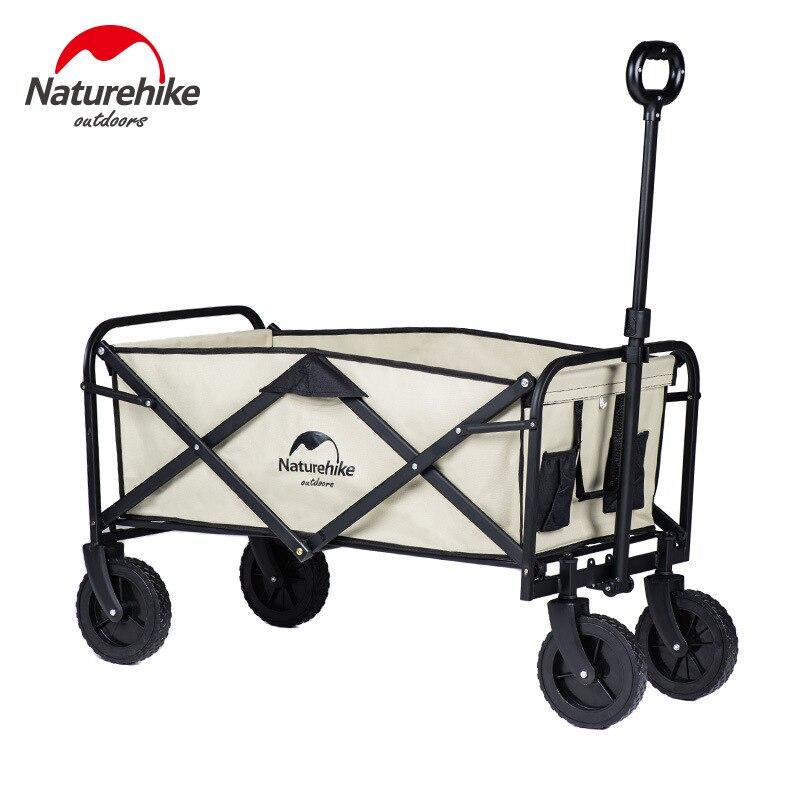 Naturehike في الهواء الطلق عربة قابلة للطي المحمولة التخييم نزهة رافعة سيارة ضوء عربة صغيرة سحب عربة