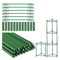 lber 84pcs green tomato cages garden plant support stakes set outdoor vegetable trellis for vertical climbing plant