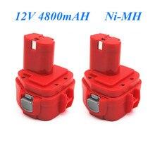 1pcs Original 4800mAh 12V Ni-CD 4.8Ah Replacement Power Tool Battery for Makita 12V Battery PA12 1220 1233 1201 1222 1223 1235