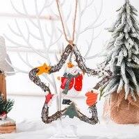 decoration christmas wreath pendant ornament door hanging artificial garland vintage navidad for home door pendant