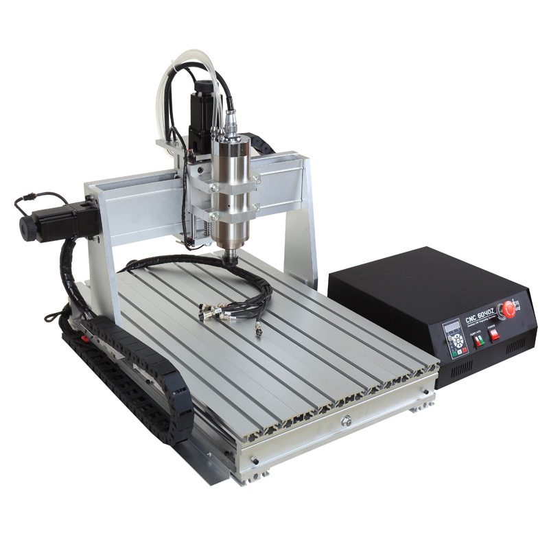 Latest 1500W Spindle Ball Screw Mini USB CNC 6040 3 Axis Router Engraver Machine for Wood Aluminum Milling Drilling Carving