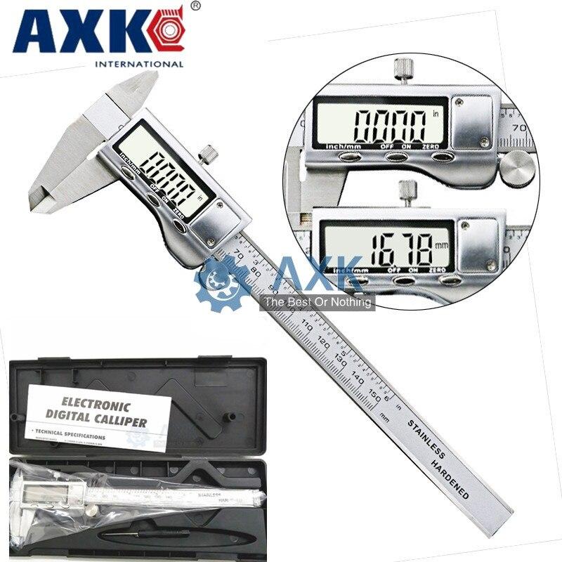 """6 """"/0-150mm pantalla LCD de deslizamiento suave Durable de acero inoxidable Digital calibrador electrónico herramienta de medición LT239"""
