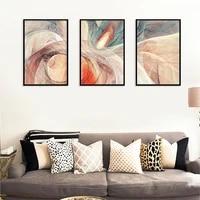Affiche geometrique minimaliste moderne  impression de nuage de feu  ligne abstraite  image darriere-plan de la maison  peinture dart deco murale sans cadre