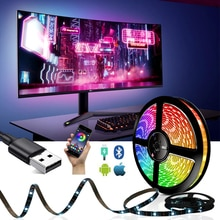 5V bande LED USB RGB Bluetooth contrôle lumière LED bande IP65 étanche 1M/2M/3M/4M/5M Flexible TV rétro-éclairage