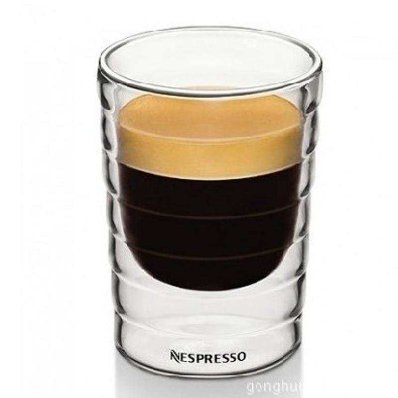 Caneca ручная выдувная стеклянная чашка с двойными стенками canecas Nespresso кофейная кружка и чашки термостеклянные кофейные чашки для путешествий ...