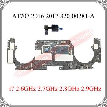 Original 2016 2017 A1707 Motherboard i7 2.6GHz 2.7GHz 2.8GHz 2.9GHz 820-00281-A For Macbook Pro 16GB A1707 Logic Board Tested OK