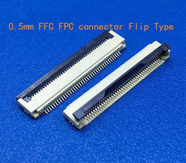 50 قطعة FFC / FPC موصل 0.5 مللي متر 25P أسفل الاتصال الزاوية اليمنى مصلحة الارصاد الجوية/SMT ZIF